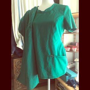Green Cherokee Infinity Scrubs and Greys pants